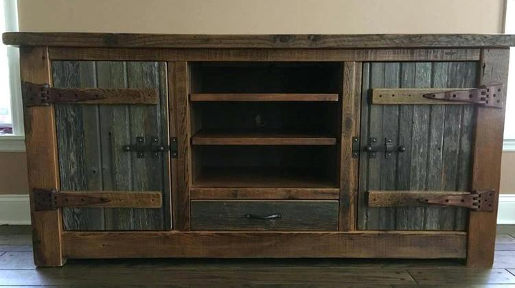 barn wood rustic tv stand