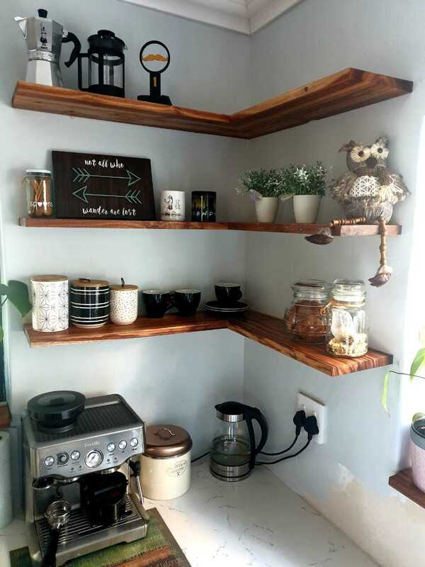 blackwood corner shelves