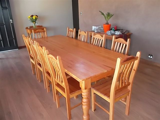 Oregon Dining Table 10 Chairs
