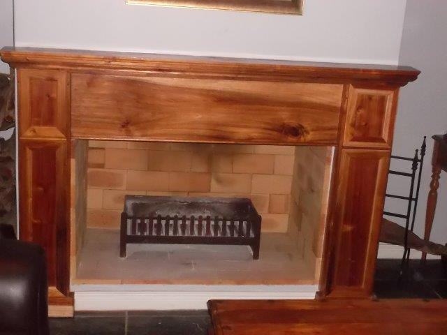 hardwood fire mantle
