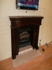 Hardwood Fireplace