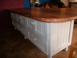 Hard wood top kitchen island