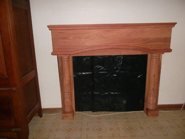 Hardwood Fireplace Mantel