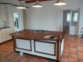 Hard wood top kitchen