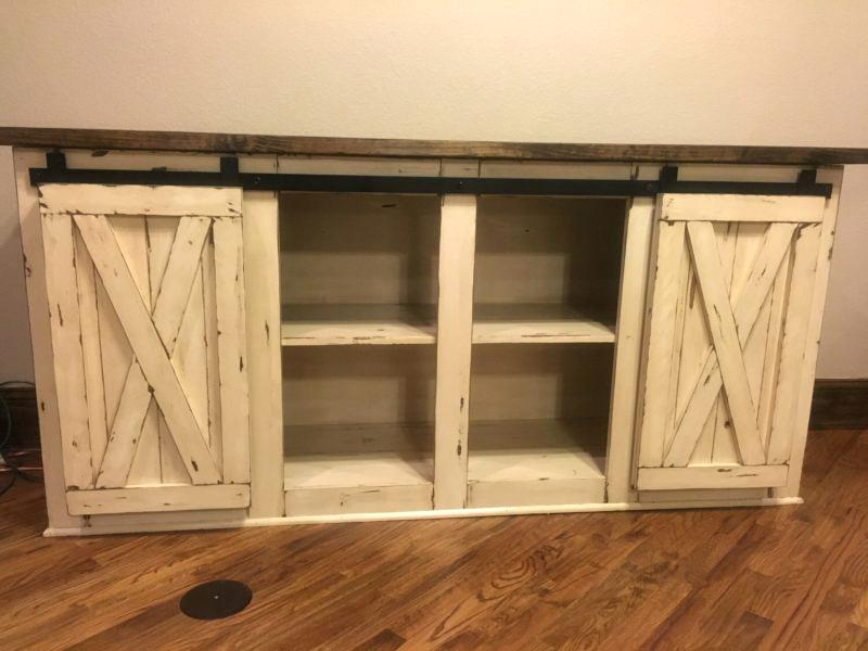 table rustic tv stand