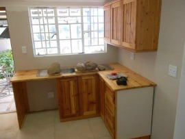 Tulbach hardwood top kitchen scullery
